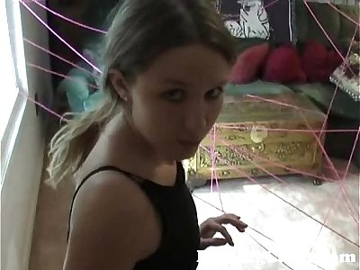 Cute 18YO Plays Burglar to Get her Dildo - DarlingCams.com