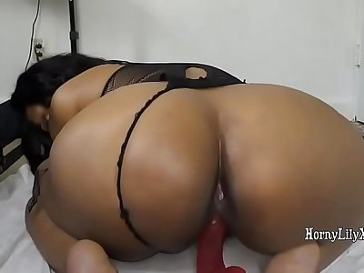 Indian girl Armpit Licking and riding dildo