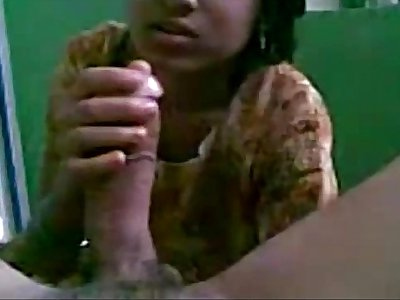Indian GF Homemade Blowjob